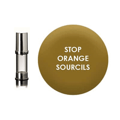 Stop orange eyebrows pigment
